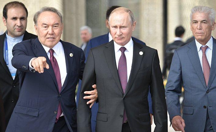 Президент РФ В. Путин принял участие в V Каспийском саммите в Актау