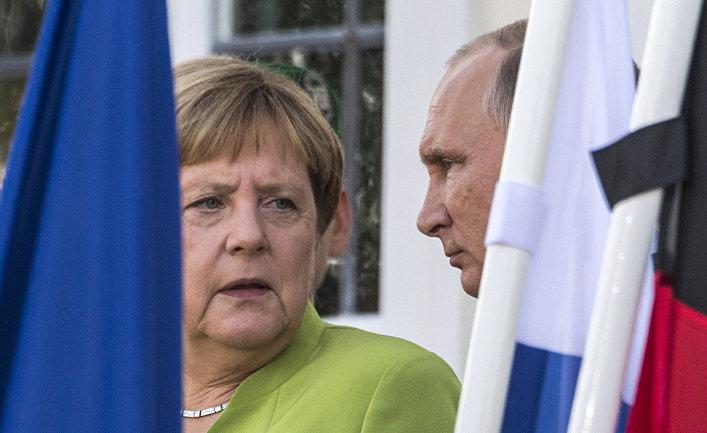 Президент РФ Владимир Путин и федеральный канцлер ФРГ Ангела Меркель