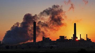 Угольная электростанция в Гленрок, США