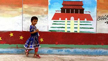 Девочка в китайской провинции Синьцзян