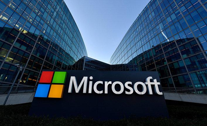 Логопит компании Microsoft в пригороде Парижа