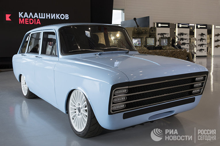 "Концепт электрокара концерна ""Калашников"" CV-1"