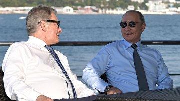 Встреча президента РФ В. Путина с президентом Финляндии С. Ниинистё