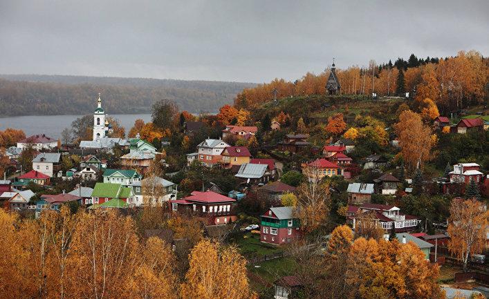 Золотая осень в Плёсе