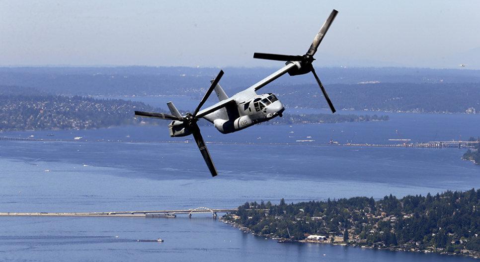 Американский конвертоплан MV-22B Osprey. 2014 год