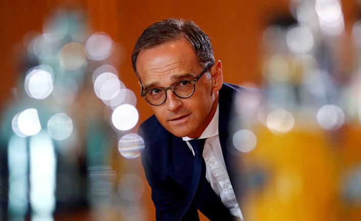 Глава МИД Германии Хайко Маас на заседании правительства