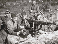 Польские окопы под Милосной, август 1920 года