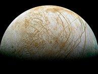 Спутник Юпитера Европа, сфотографированный космическим аппаратом «Галилео»