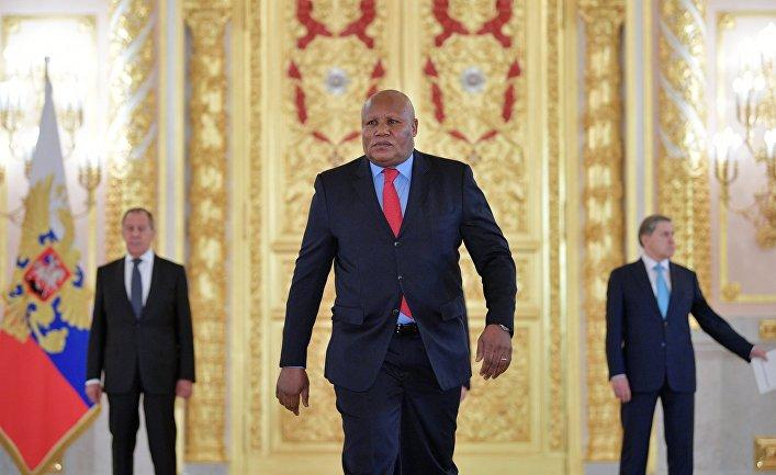 Чрезвычайный и полномочный посол Республики Конго Давид Мадука в Кремле