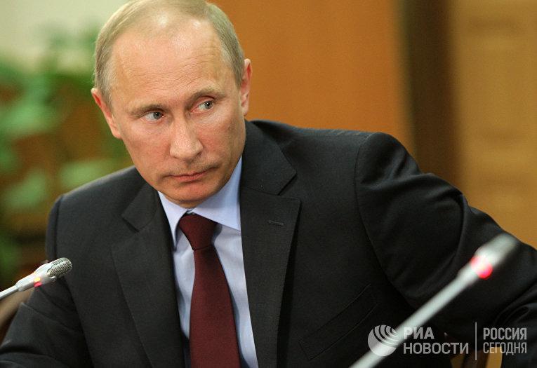 Встреча В.Путина с членами президиума Союза транспортников РФ