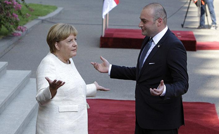 Канцлер Германии Ангела Меркель и премьер-министр Грузии Мамука Бахтадзе