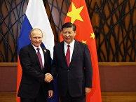 Президент РФ Владимир Путин и председатель КНР Си Цзиньпин на саммите АТЭС. 10 ноября 2017