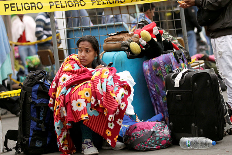 Мигранты из Венесуэлы