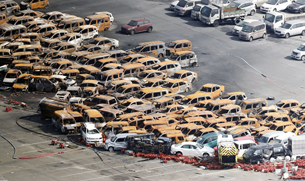 Последствия тайфуна «Джеби» в Японии