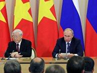 Президент РФ В. Путин встретился с генеральным секретарём ЦК коммунистической партии Вьетнама Н. Фу Чонгом