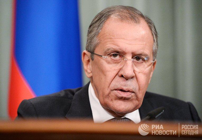 Встреча глав МИД России и Сирии С. Лаврова с В. Муаллемом