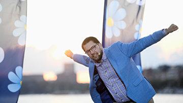 Лидер партии шведских демократов Джимми Акессон