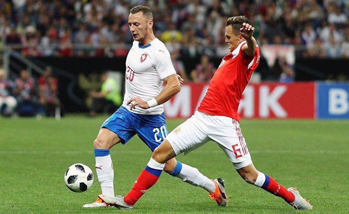 Футбол. Товарищеский матч. Россия - Чехия