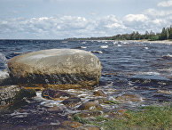 Ладожское озеро в Нижне-Свирском государственном заповеднике в Ленинградской области