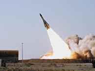 Запуск ракеты С-200 во время военных игр в Иране