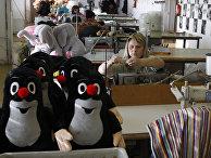 Работники фибрики игрушек в Брно, Чешская Республика