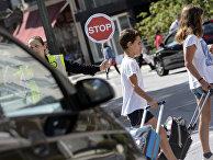 Дорожное движение в городе Понтеведра, Испания