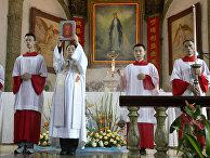 Богослужение в соборе Непорочного Зачатия в Пекине