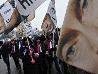 """Шествие и митинг """"Защитим страну!"""" в поддержку В.Путина"""