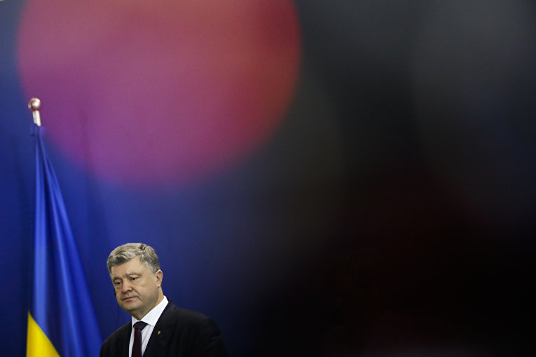 Президент Украины Петр Порошенко в Германии