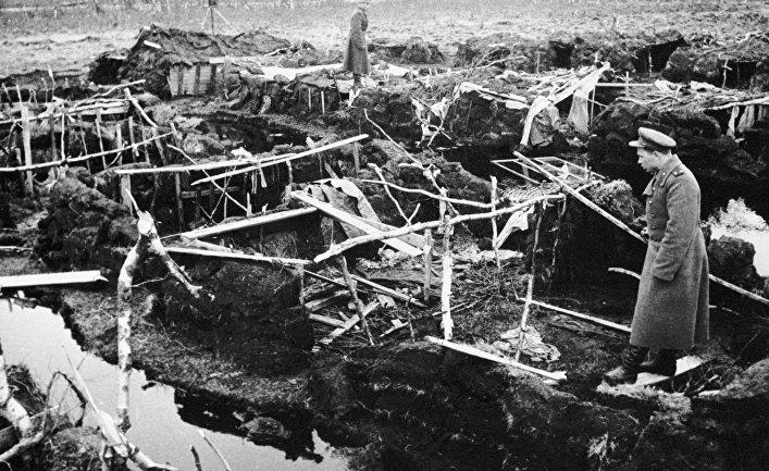 Концлагерь для советских военнопленных близ Тромсё, Северная Норвегия