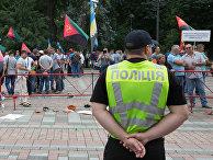 Митинг шахтёров у здания Рады в Киеве