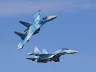 Су-27ВВС Украины вовремя учений «Чистое небо— 2018»