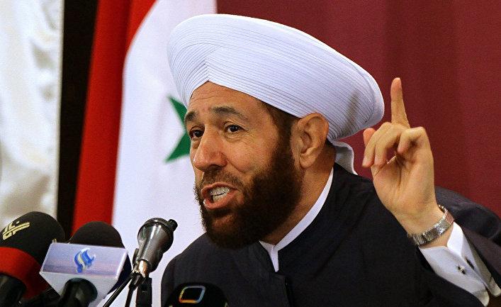 Верховный муфтий Сирии шейх Ахмед Бадр-эд-Дин Хассун