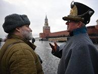 Реконструкторы на генеральной репетиции марша, посвященного 76-й годовщине парада 1941 года, на Красной площади в Москве