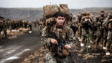 Американские морские пехотинцы во время учений НАТО Trident Juncture в Исландии