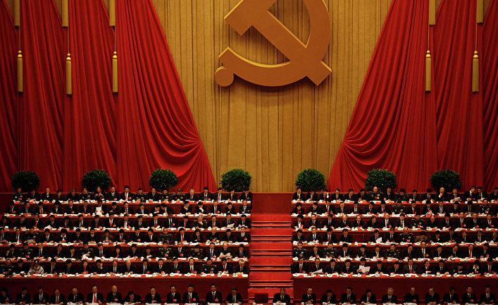 Церемония открытия XVIII съезда Компартии Китая в Доме народных собраний в Пекине