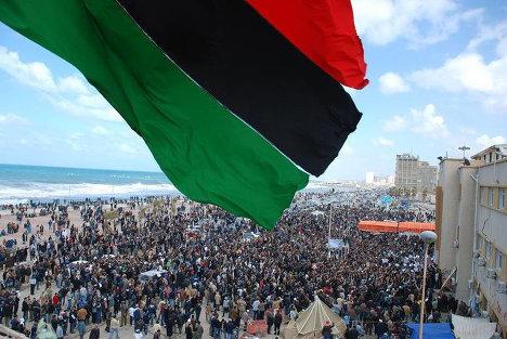 "Акции протеста против режима ""короля королей"" Муамара Каддафи в Ливии"
