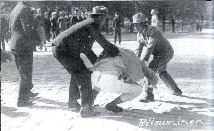 Участники лапуаского движения во время беспорядков в Ваасе