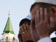 Мусульмане у мечети Марджани