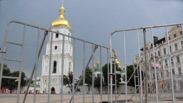 Вид на Софийский собор в Киеве