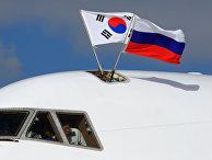 Президент Республики Корея Ли Мен Бак прибыл в Москву