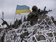 Украинские солдаты на окраине Артемовска