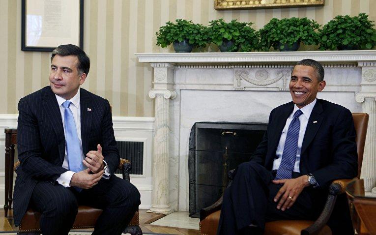 Встреча Барака Обамы и Михаила Саакашвили