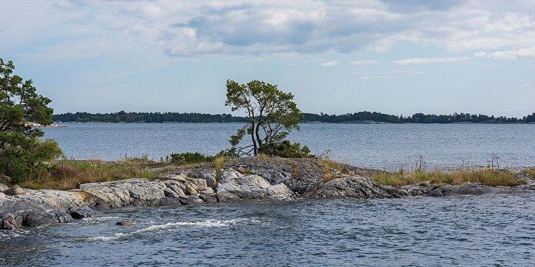 Шхеры в пригороде Стокгольма, Швеция