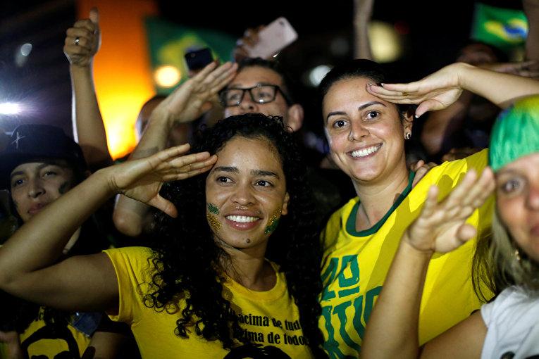 Сторонники Жаира Болсонару в Бразилии