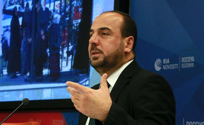 П/к главы сирийского оппозиционного Высшего комитета Насера аль-Харири