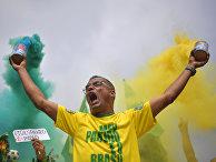 Сторонник Жаира Болсонару в Бразилии