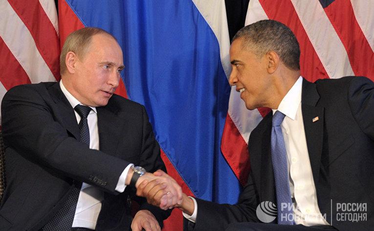 Владимир Путин и Барак Обама, архивное фото