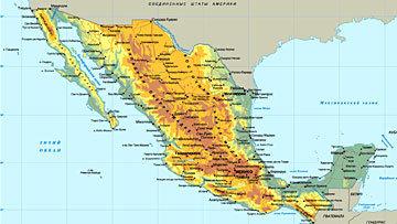 Карта Латинской Америки