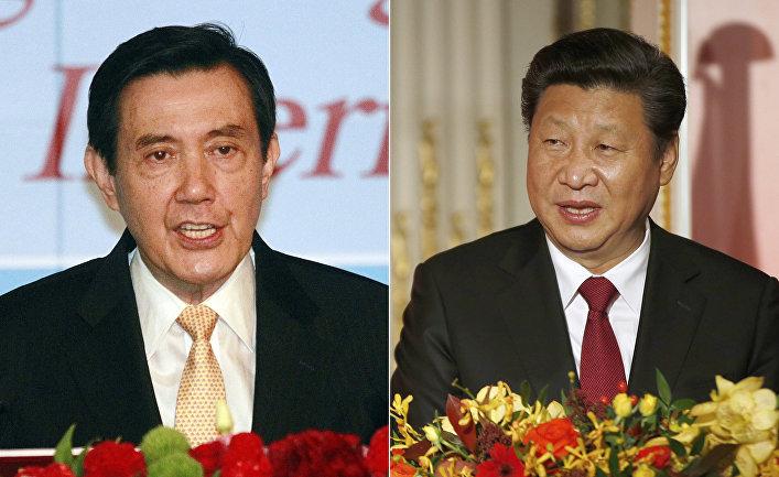 Президент Тайваня Ма Инцзю и председатель КНР Си Цзиньпин